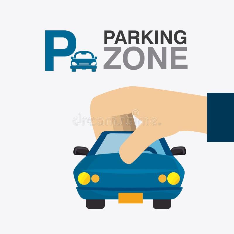 Parking strefy grafika ilustracji