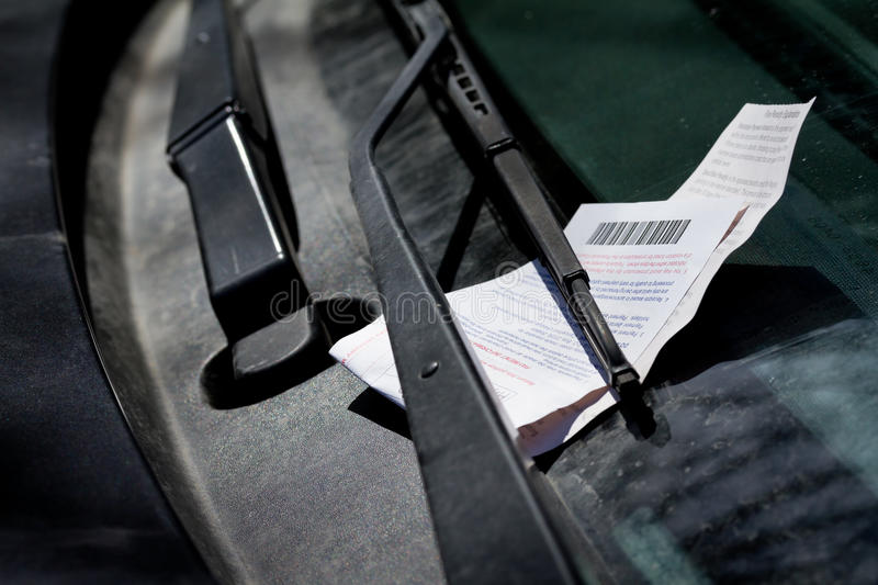 Parking Ticket Stock Photography