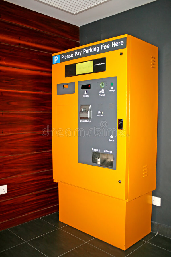 Parking Ticket Machine royalty free stock photo