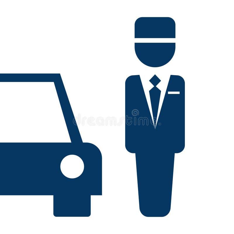 Parking valet icon. Vector illustration isolated on white background royalty free illustration