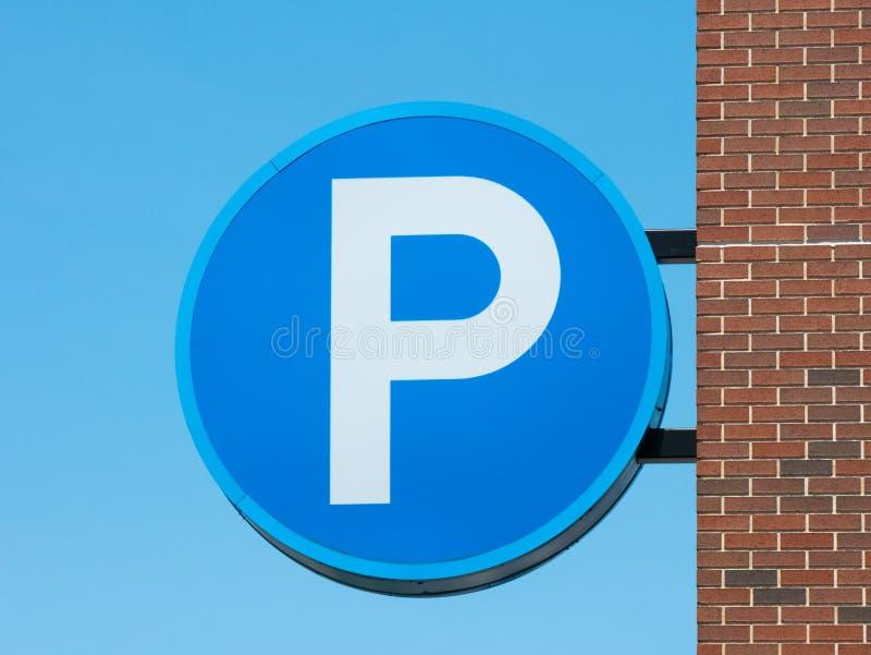 Parking znak zdjęcia stock