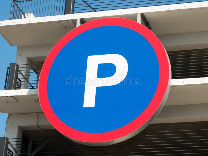 Parking znak fotografia royalty free