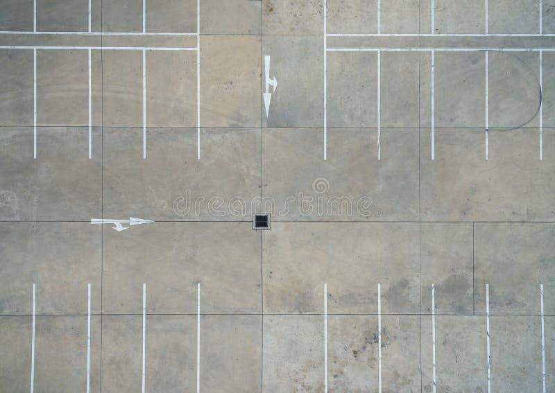 Parkings vides, vue aérienne photo libre de droits