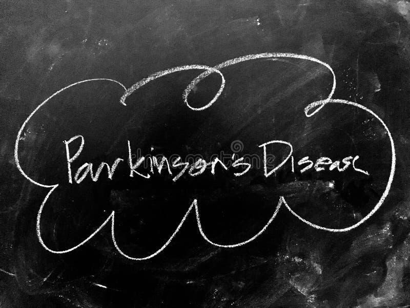 Parkinson ` s choroba ręcznie pisany na Blackboard fotografia stock
