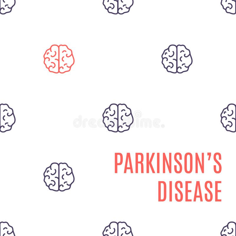 Parkinson-` s Krankheits-Gehirnplakat vektor abbildung
