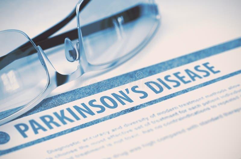 Parkinsons-Krankheit medizin Abbildung 3D lizenzfreie stockfotos