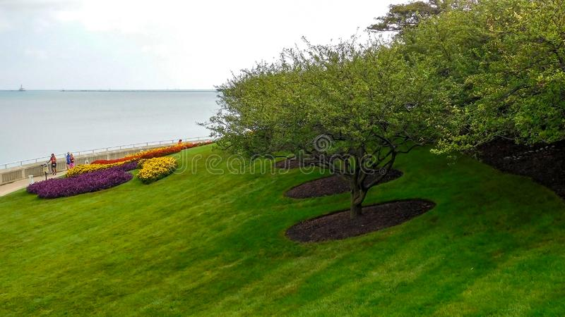 Parkland Along The Lake Michigan royalty free stock images