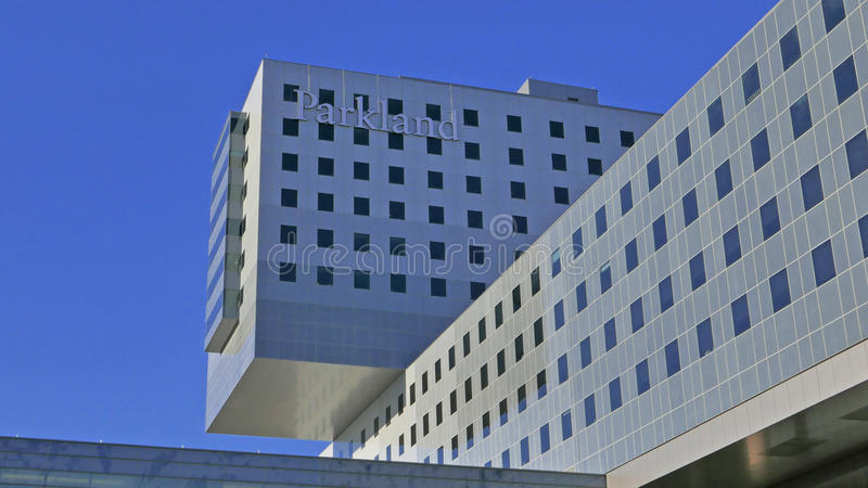 Parkland zostaje jeden ruchliwie szpitale publiczni w narodzie z więcej niż 1 milion cierpliwymi wizytami, każdego roku obrazy royalty free