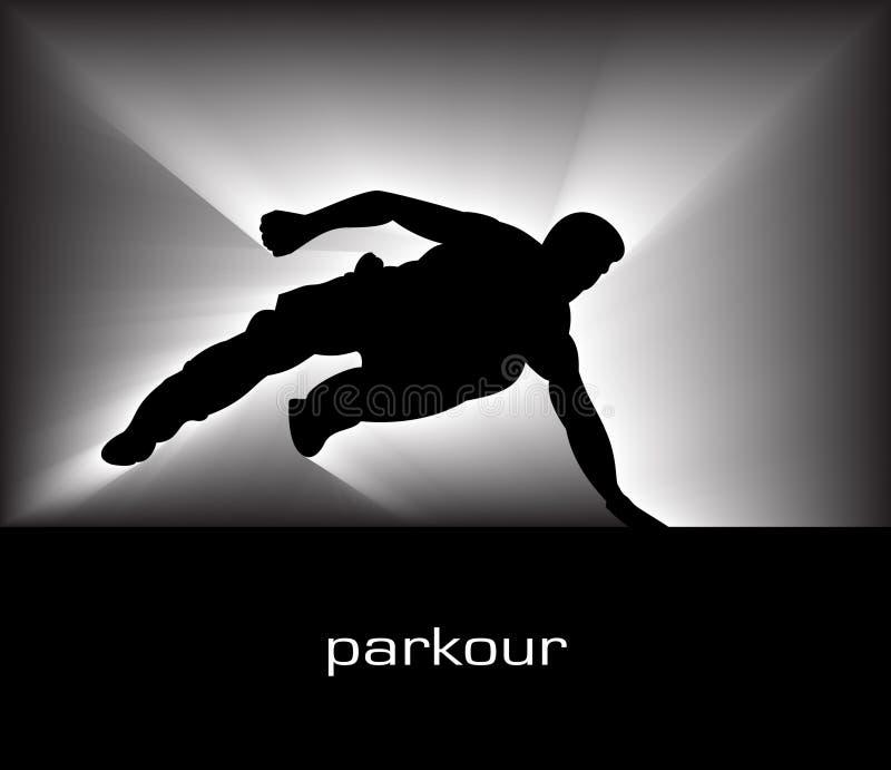 Parkour ilustração royalty free