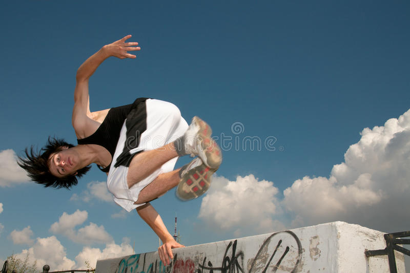 Parkour stock afbeelding
