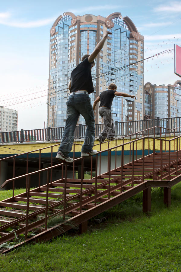 Free Parkour In The City Stock Images - 15018464