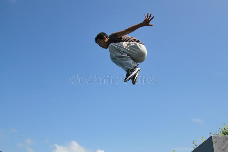 Parkour Jumping stock images