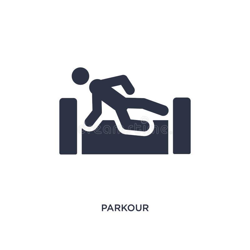 parkour pictogram op witte achtergrond Eenvoudige elementenillustratie van activiteitenconcept royalty-vrije illustratie