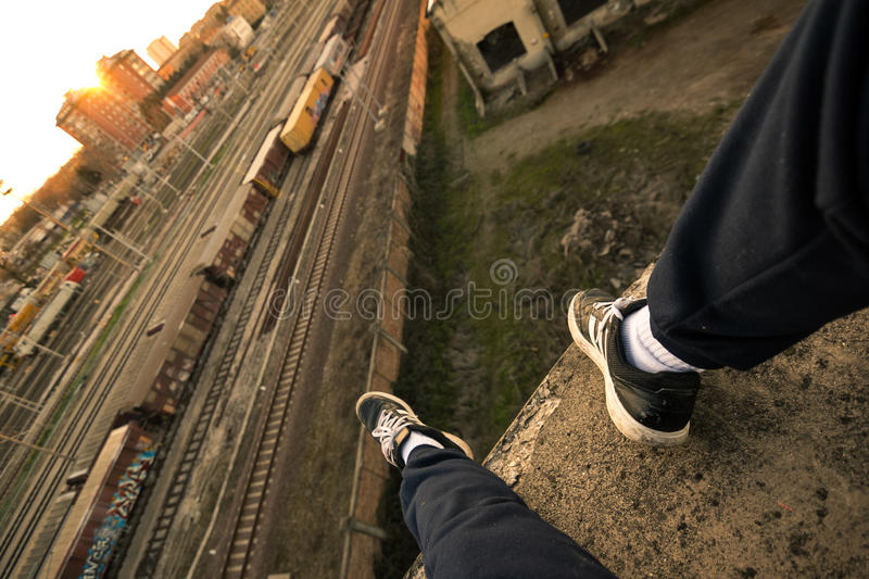 Parkour Runner By Railway Track Free Public Domain Cc0 Image