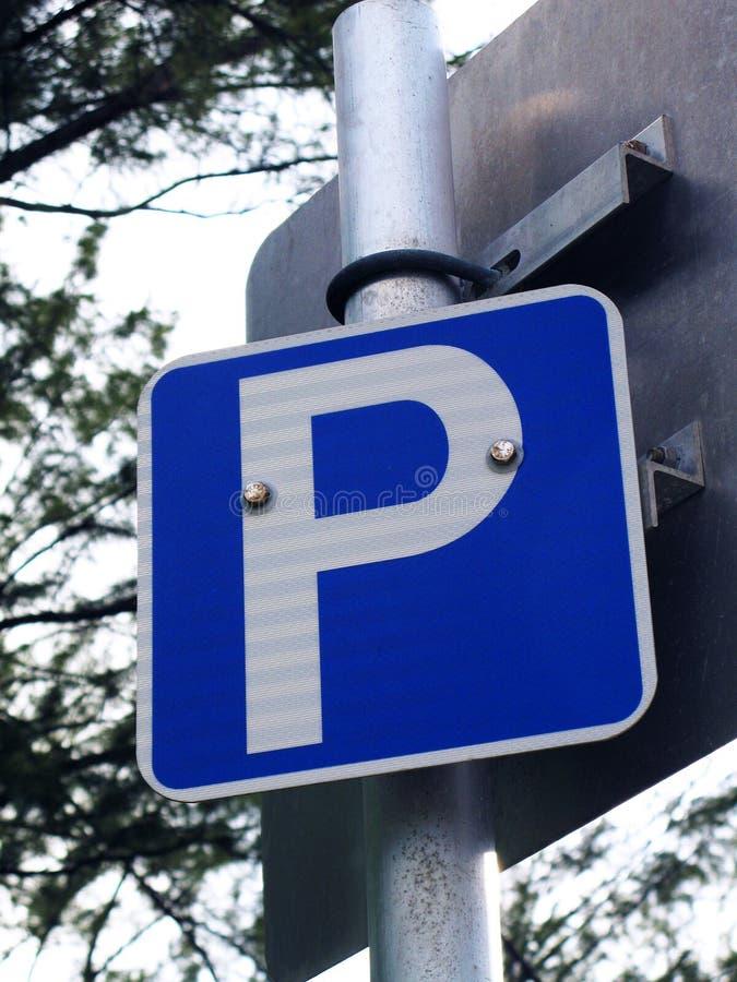 Parkować znak Metered parking zdjęcie stock