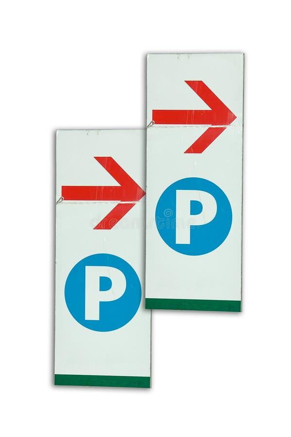 Parkować znaka zdjęcie stock