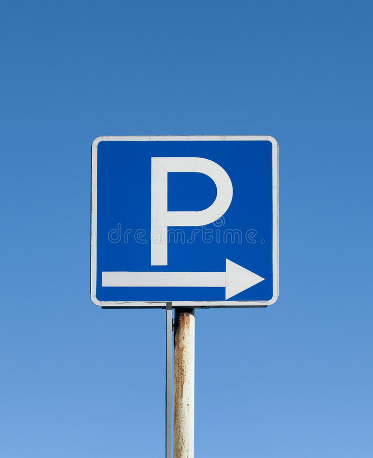 Parkować znaka zdjęcia royalty free