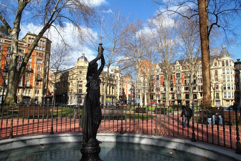 parkowa Bilbao statua zdjęcia royalty free