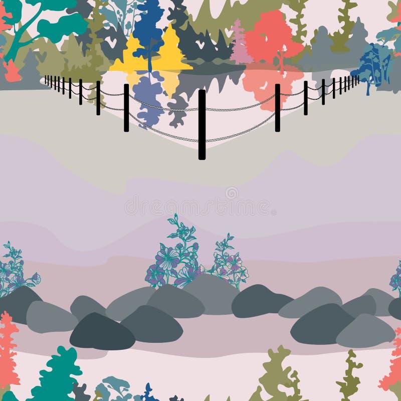 Parkowa Krajobrazowa ilustracja royalty ilustracja
