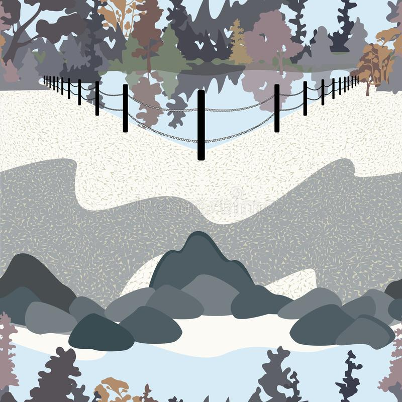 Parkowa Krajobrazowa ilustracja ilustracja wektor
