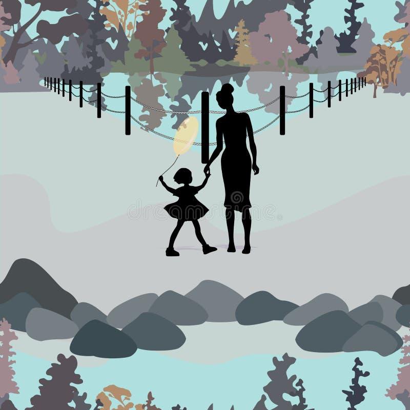 Parkowa Krajobrazowa ilustracja ilustracji