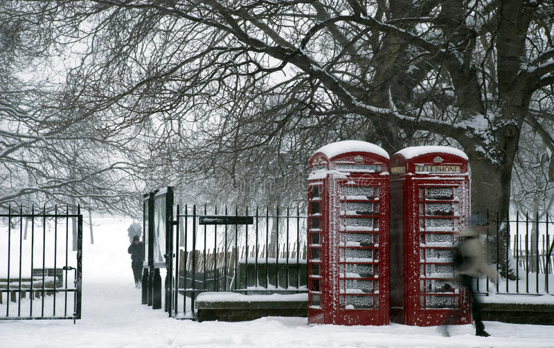 parkowy śnieg zdjęcie stock