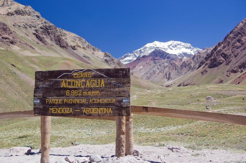 parkowy Aconcagua prowincjonał Argentina fotografia royalty free