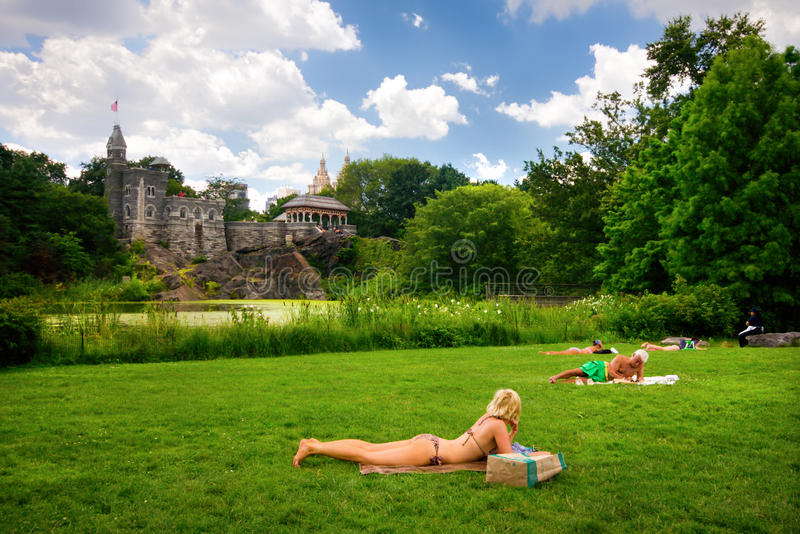 Parkowy centrali Lato NYC obraz stock