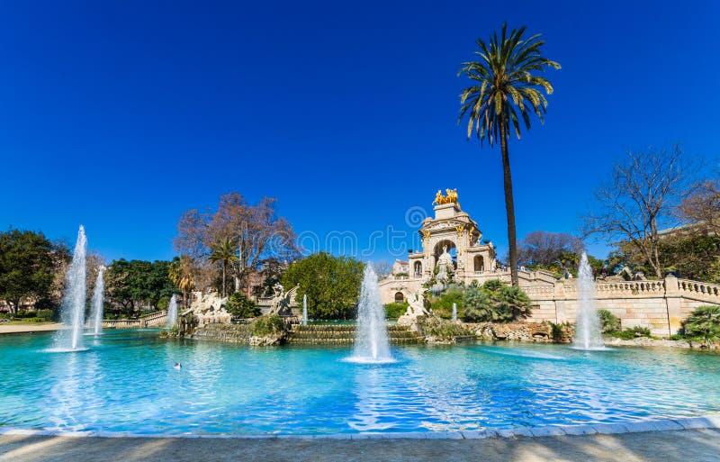 Parkowy Ciutadella obrazy royalty free