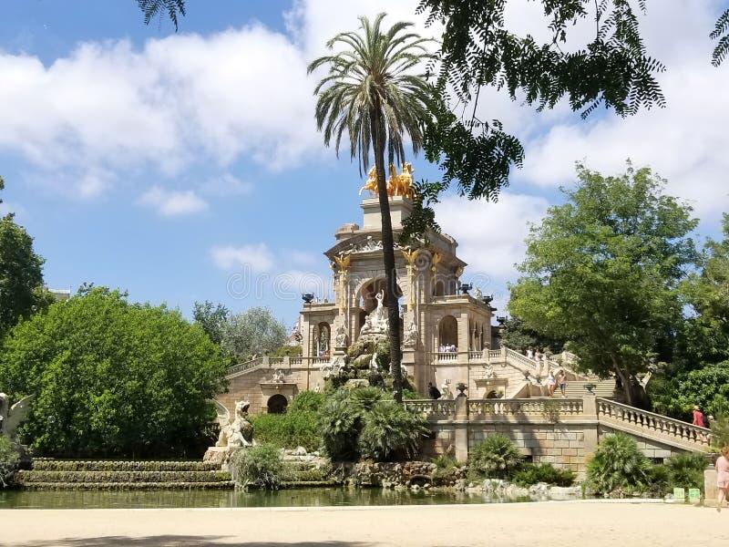 Parkowy De Los angeles Ciutadella, Barcelona, Spain w letnim dniu obrazy stock