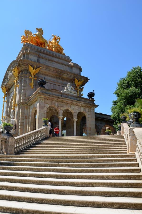 Parkowy De Los angeles Ciutadella - trzydzieści hektarów ampuły park blisko do zawsze zatłoczonego historycznego centrum Barcelon obrazy stock