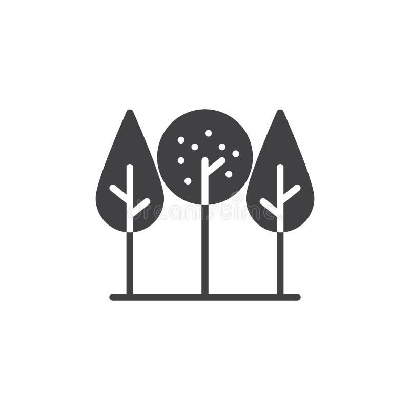 Download Parkowy Drzewo Ikony Wektor Ilustracja Wektor - Ilustracja złożonej z grafit, symbol: 106919729