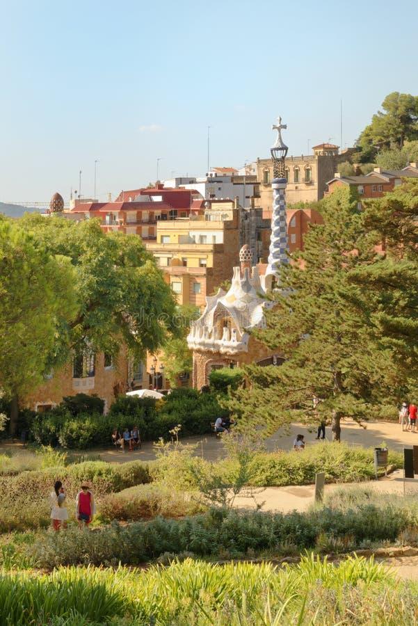 Parkowy Guell ogród w Barcelona, Hiszpania obraz royalty free