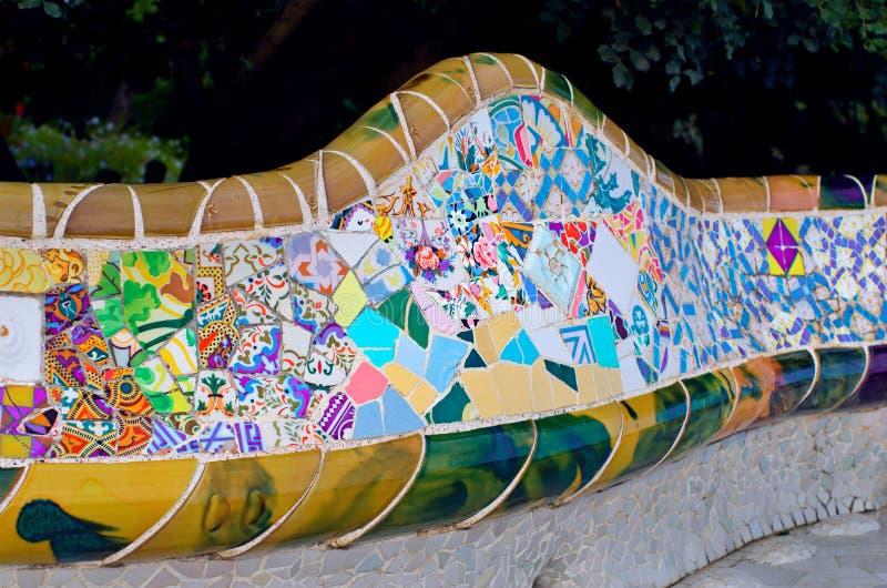 Parkowy Guell w Barcelona, Catalonia, Hiszpania obraz royalty free