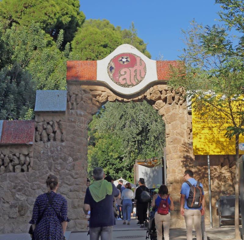 Parkowy Guell wejście zdjęcia stock