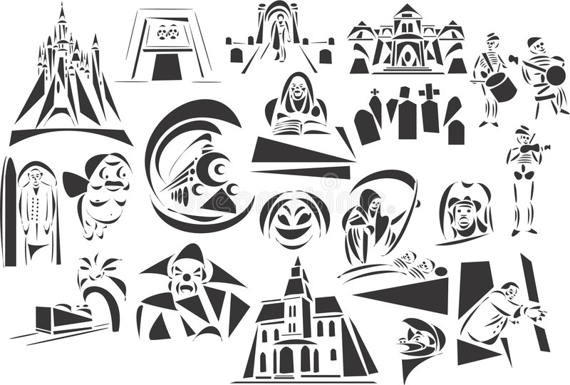Download Parkowy horroru temat ilustracja wektor. Obraz złożonej z czaszka - 6890205