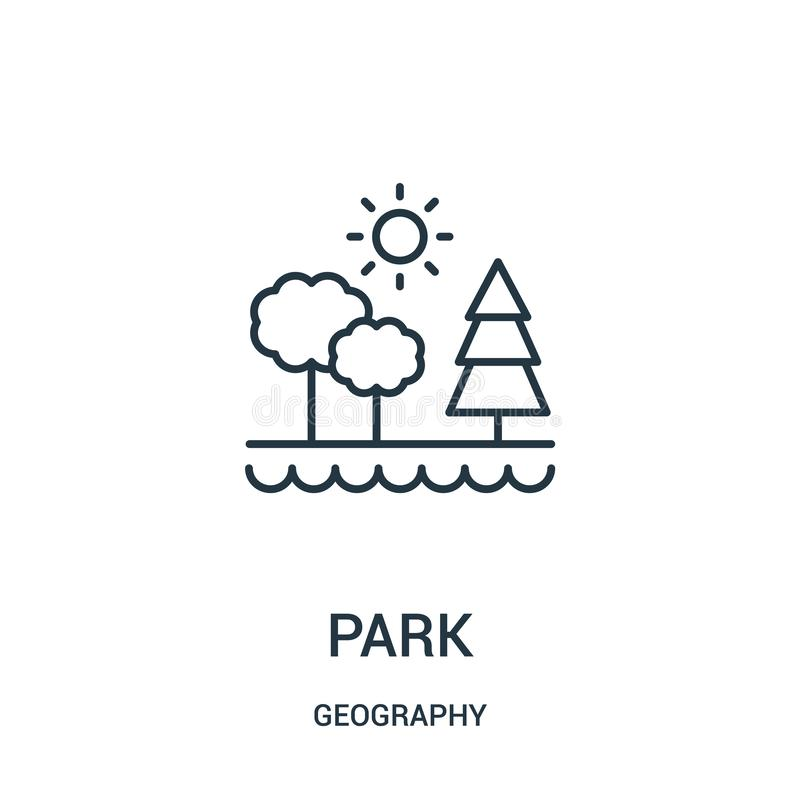 parkowy ikona wektor od geografii kolekcji Cienka linia parka konturu ikony wektoru ilustracja ilustracji