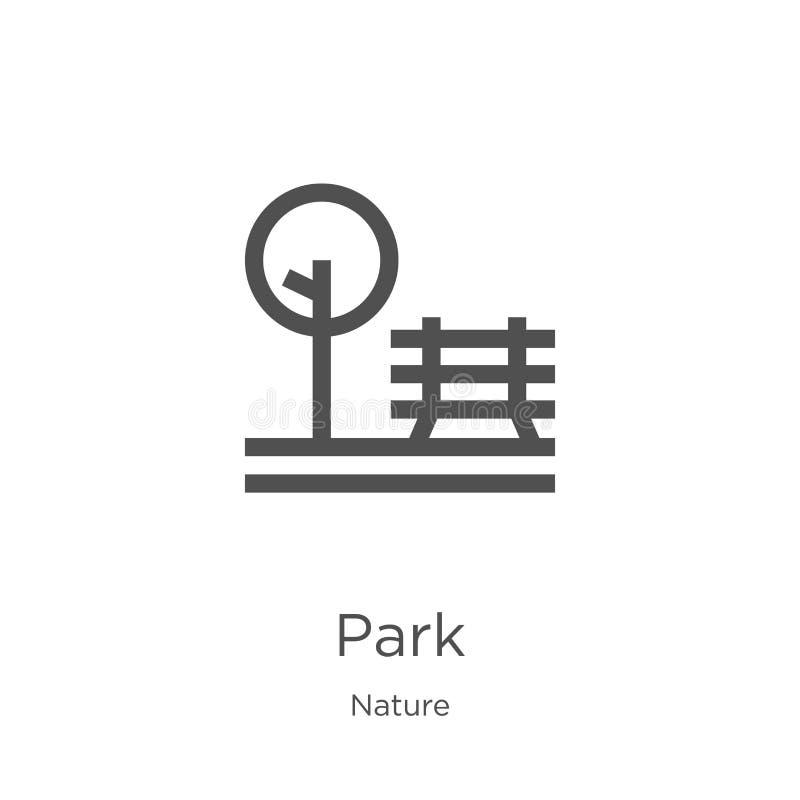 parkowy ikona wektor od natury kolekcji Cienka linia parka konturu ikony wektoru ilustracja Kontur, cienka linia parka ikona dla  ilustracji