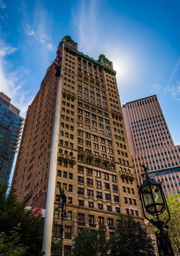 Parkowy rzędu budynek w lower manhattan, Nowy Jork obraz stock