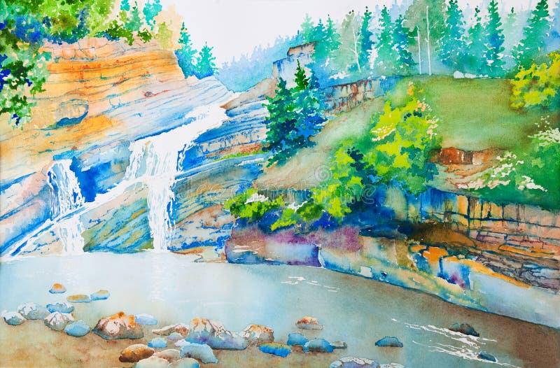 parkowy waterton ilustracji