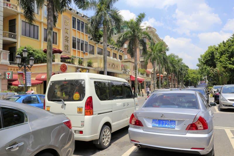 Parkplatz des shamian Hotels lizenzfreie stockfotos