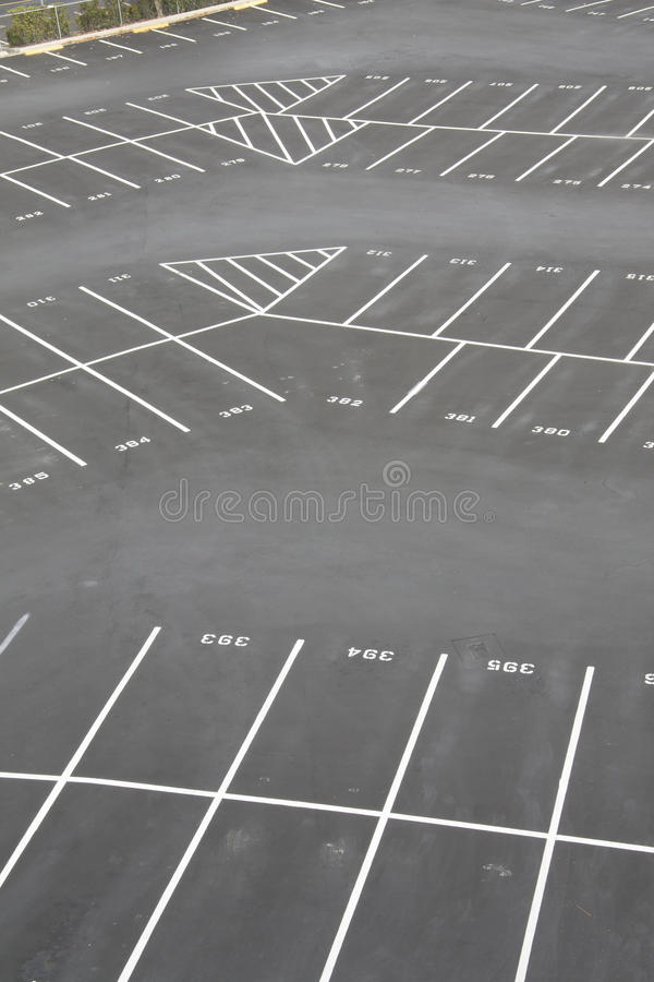 Parkplatz-Eckenkapitel lizenzfreie stockfotografie