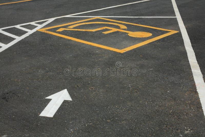 Parkplatz für Behinderten lizenzfreies stockfoto