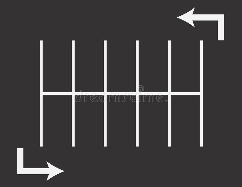 Parkplatz-Pfeile vektor abbildung