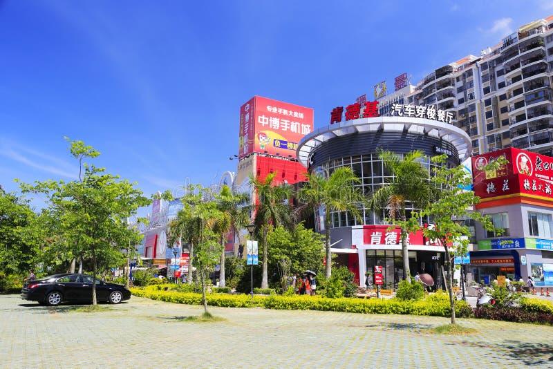 Parkplatz von kfc Restaurant stockfoto