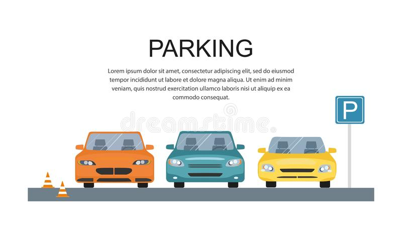Parkplatzdesign lizenzfreie abbildung