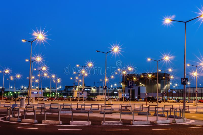 Parkplatzlichter stockbild