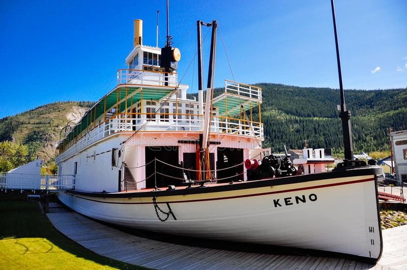 The S.S. Keno sternwheeler in Dawson City, Yukon. royalty free stock photography