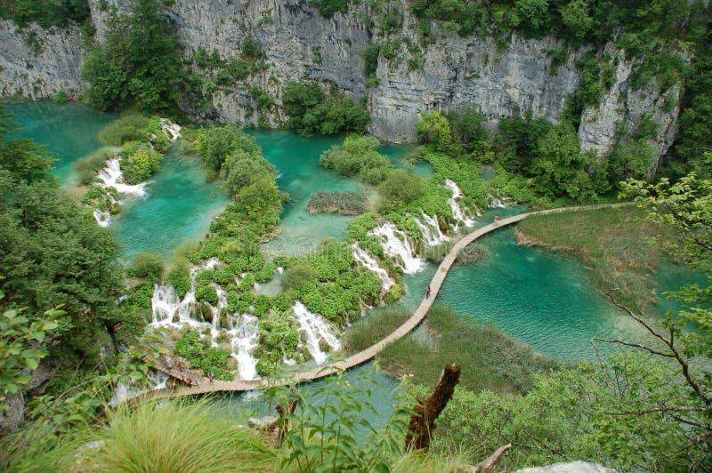 parku narodowego plitvice lake obraz royalty free