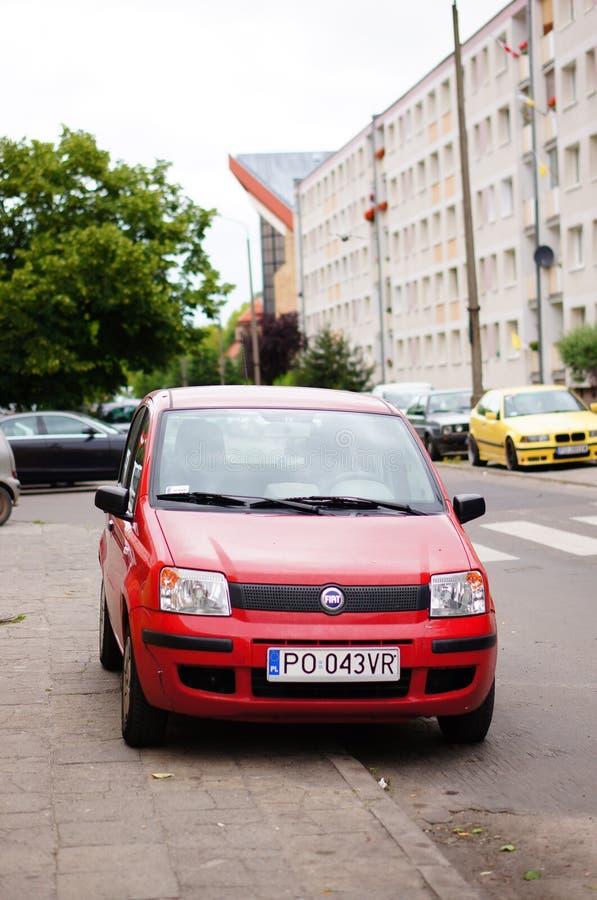 Parkujący Fiat Panda zdjęcie stock